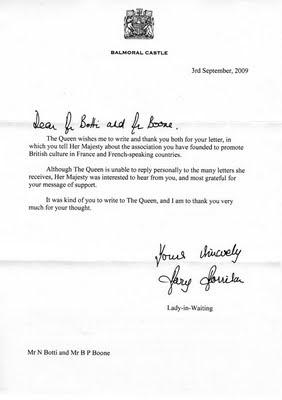 La Reine répond au GOS!
